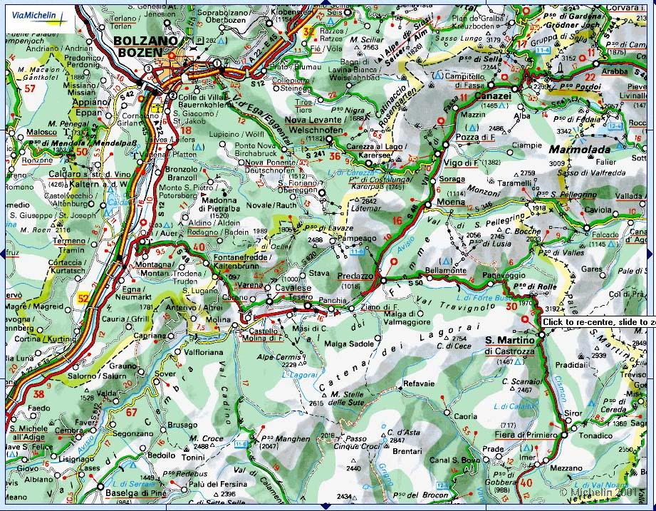 Cartina Stradale Trentino.Mappe Stradali